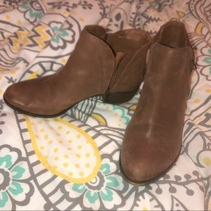 Lucky Brand Brown Leather Ankle Booties